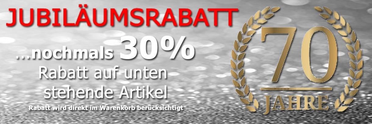 30 Prozent Jubilaeumsrabatt