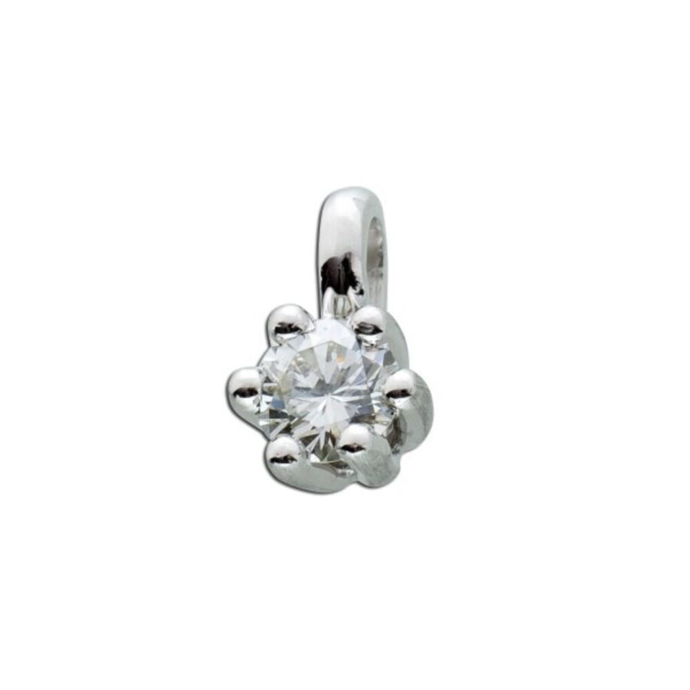 Anhänger Platin 950 Brillant 0,50ct W/SI Brillantanhänger Diamantanhänger_2