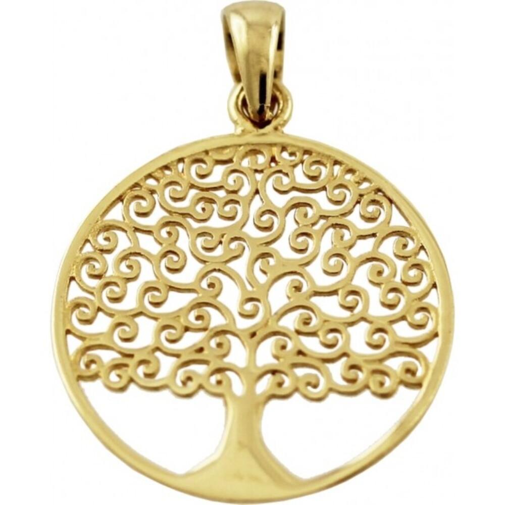 Lebensbaum Anhänger Gelb Gold 333 8 Karat Goldanhänger_01