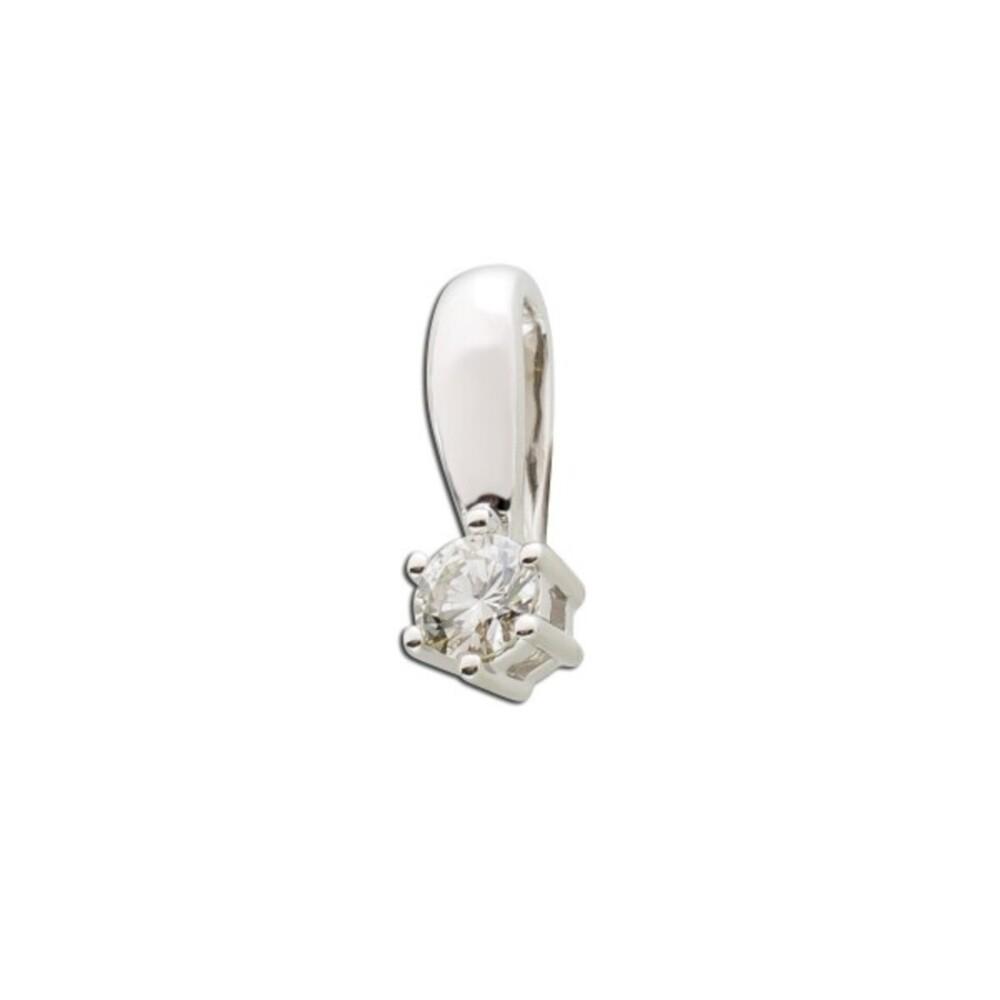 Solitäranhänger Weissgold 585 Diamant Brillant 0,15ct WSI _1