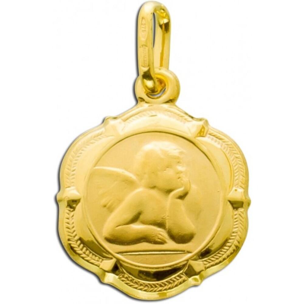 UNO A ERRE Anhänger Engel Gold 375 Goldanhänger_01