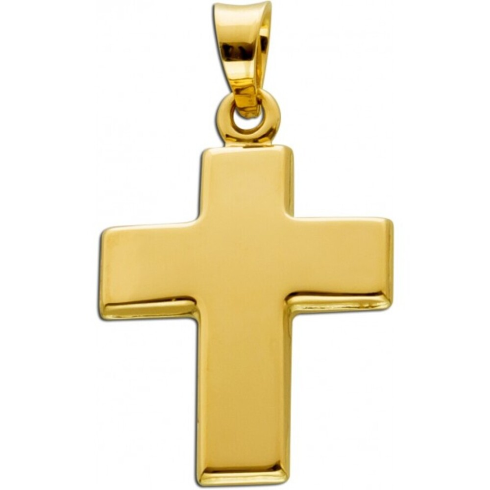 Kreuz Anhänger Gelbgold 333 Gold Schmuck  1