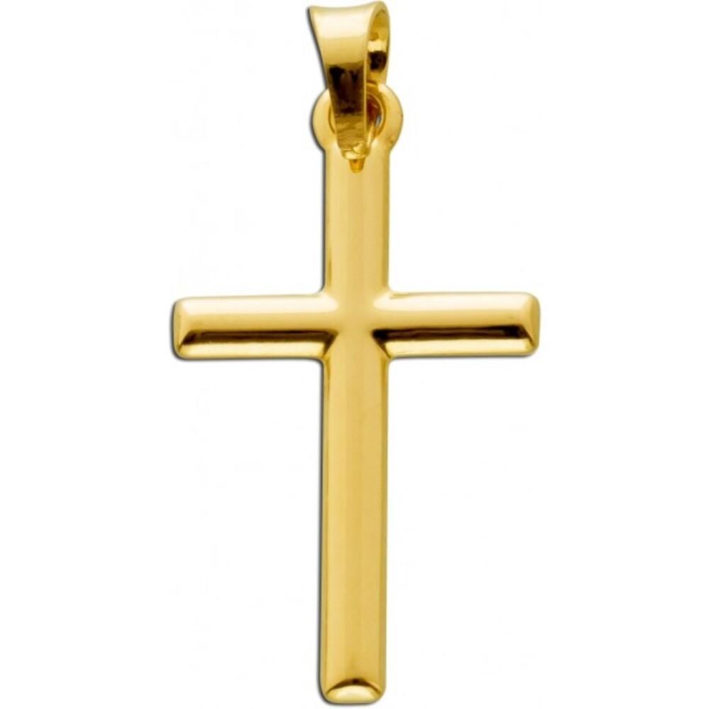 Kreuz  Anhänger Gelbgold 333 Goldschmuck Goldkreuz
