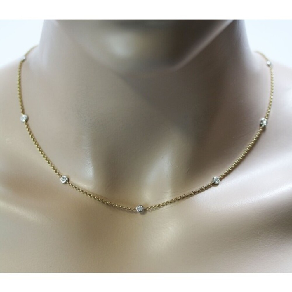Collier Gelb Gold 585 Diamant Brillant 0,35ct W/P_1
