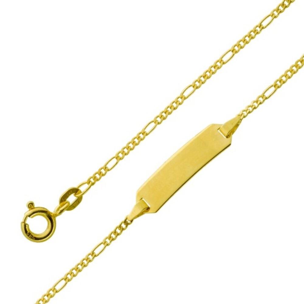Gravur Armband - Gold 333 1,5mm Gravurplatte poliert massiv