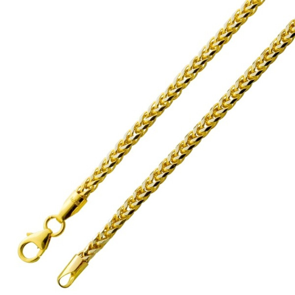 Armband Gold Zopfkette - Goldkette Gold 585 2,6mm halbmassiv