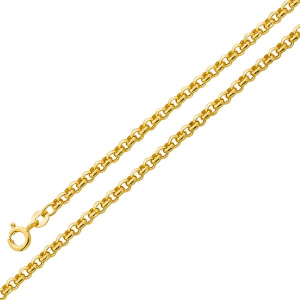 Herrenkette UNO A ERRE Erbskette Gold 375 3,2mm halbmassiv