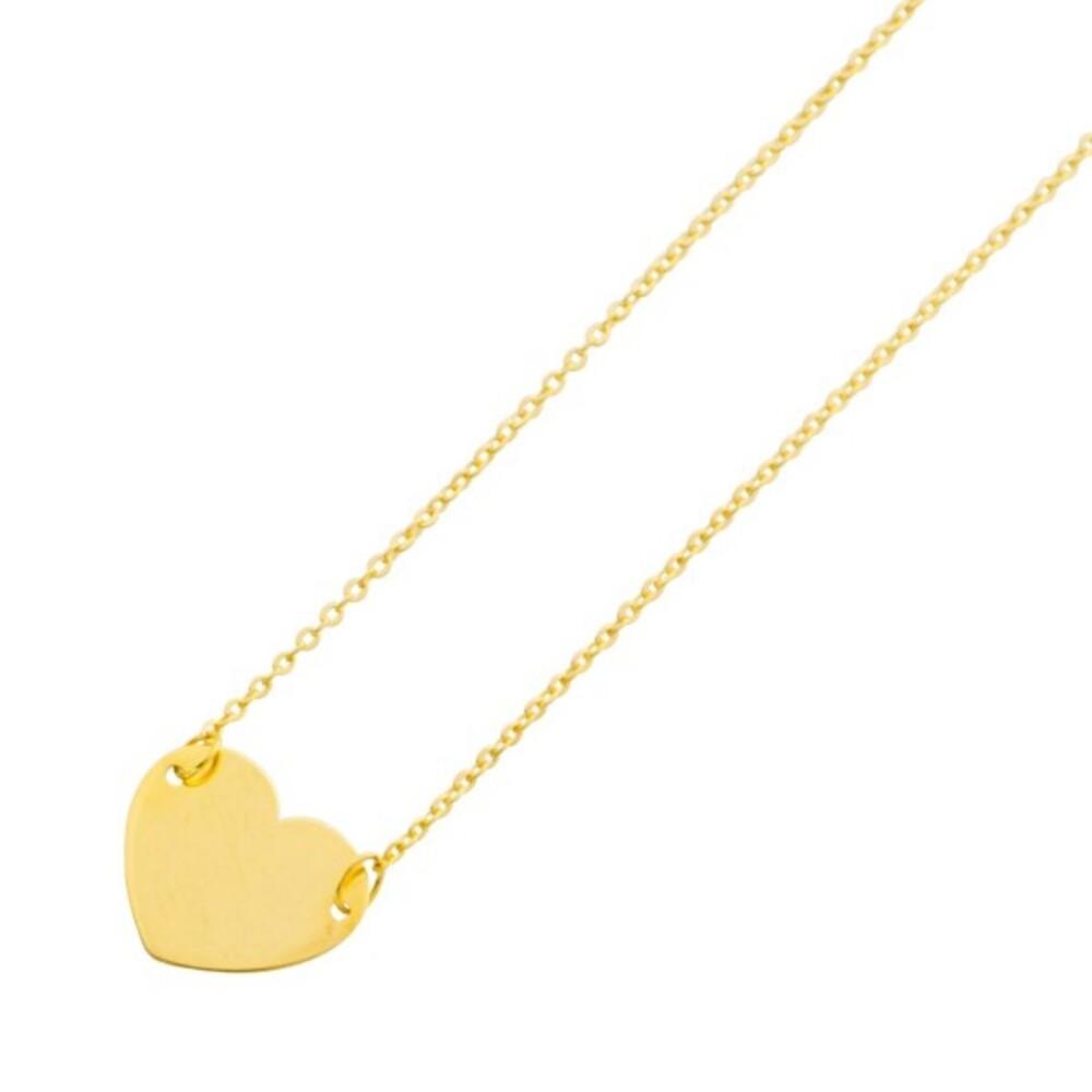 UNO A ERRE Herzkette Gelb Gold 375 Ankerkette _01