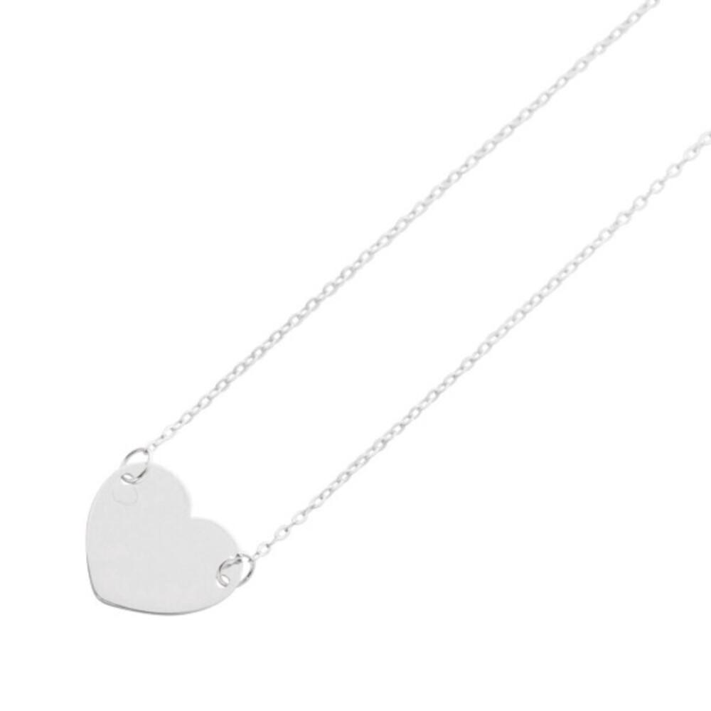 Herzkette Weißgold 375 Ankerkette_01