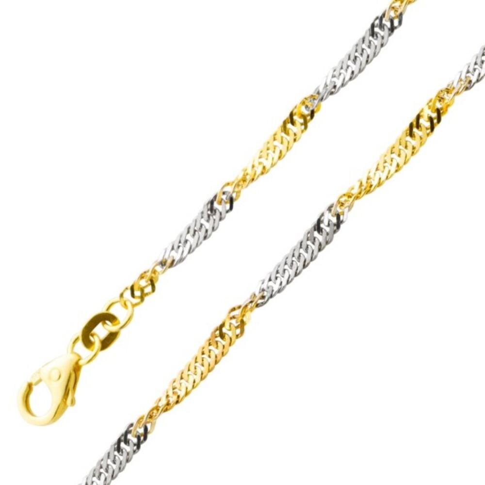 Singapurkette Armband Gold Weißgold 585 2,5mm massiv Goldschmuck