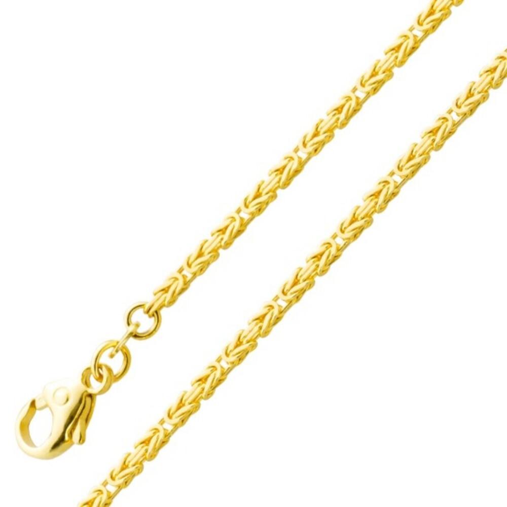 Herrenkette Königskette Armband Gold 585 1,8mm massiv