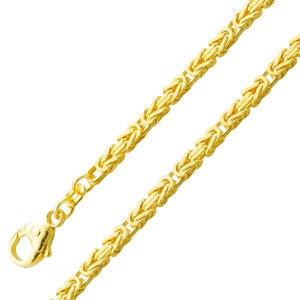 Herrenkette Königskette Armband Gold 585 2,6mm massiv