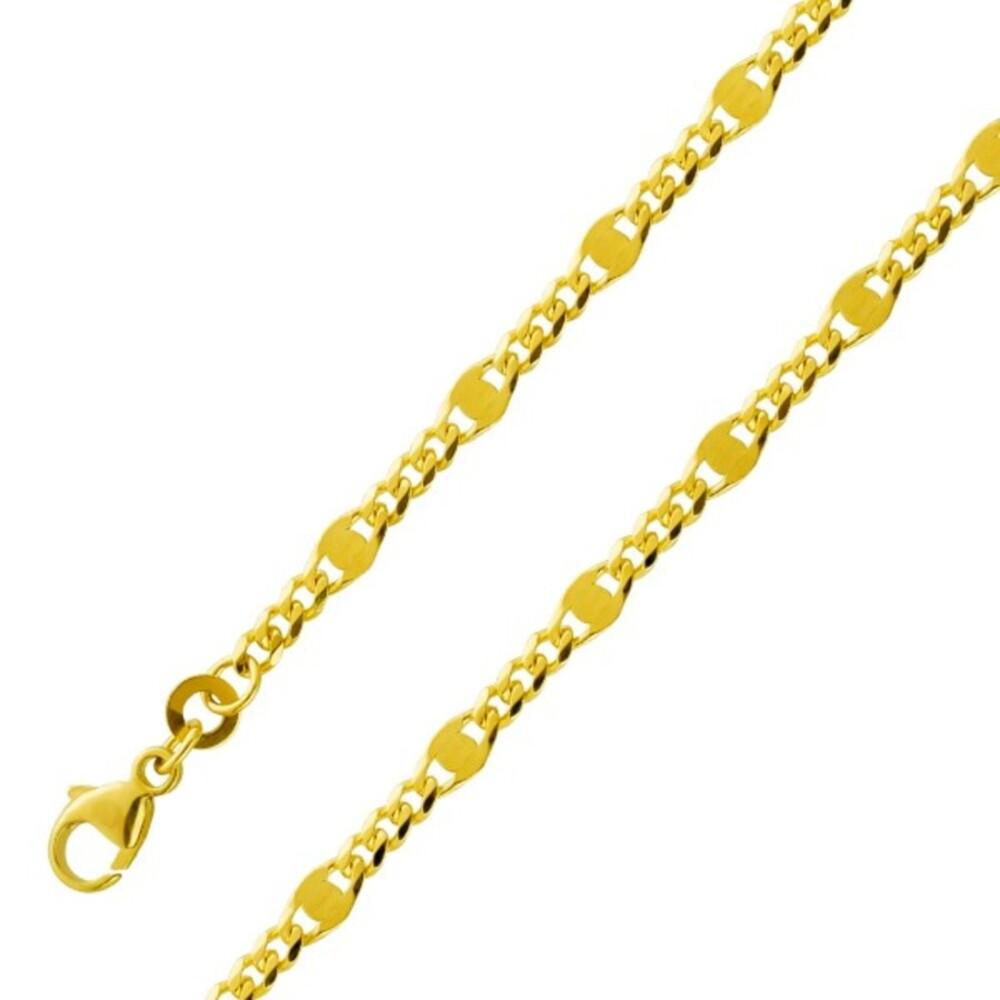 Panzerkette Armband Gelb Gold 333 2,4mm massiv Damen Herren Zwischenteile Goldkette Goldarmband 1