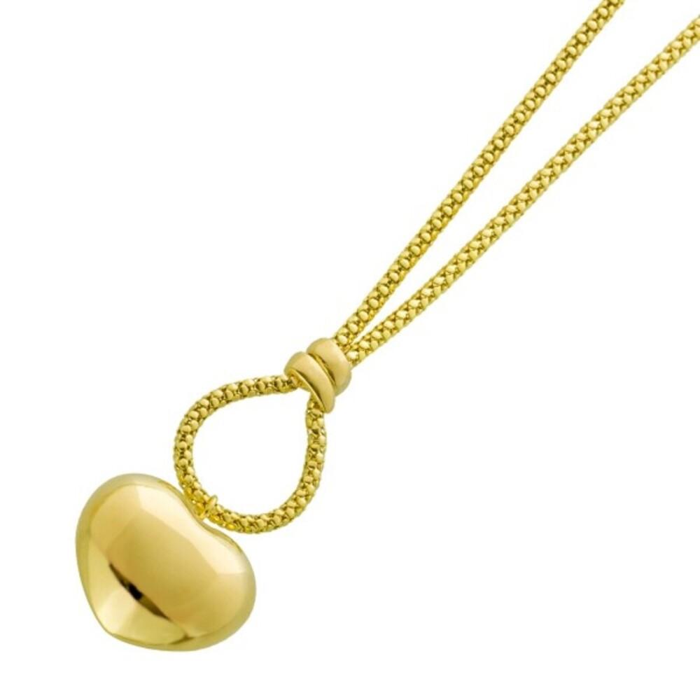 UNO A ERRE Popkornkette Herzförmigen Anhänger Gelbgold 375 Damenschmuck 1