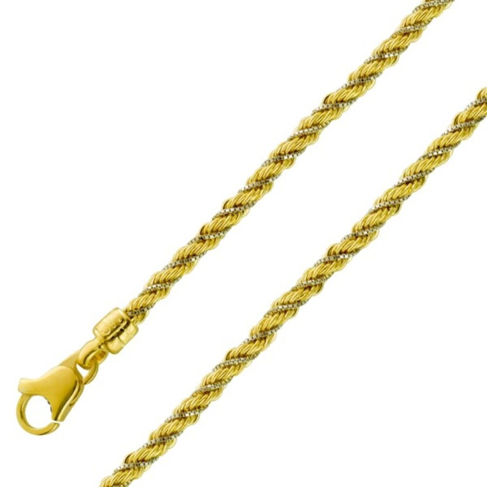 UNO A ERRE Dookie Rope Goldkette Armband 2,8mm Kordelkette Gelbgold Venezianerkette Weißgold 375 1