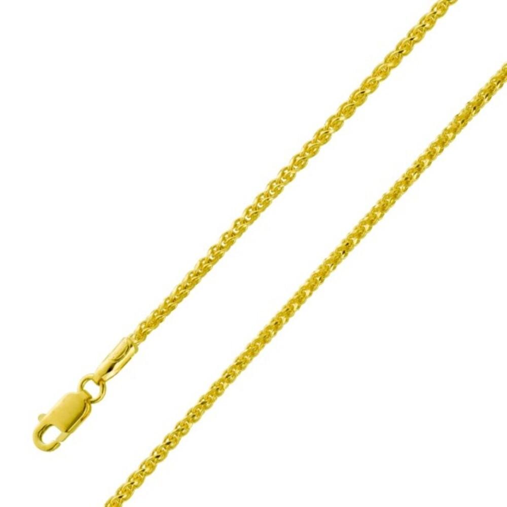 UNO A ERRE Zopfkette 1,8mm Gelbgold 375 Damen Herren Schmuck 1