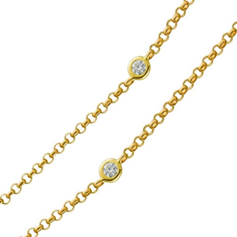Kette Diamantkette Gelbgold 585 9 Diamanten TLB/P1 zus. 0,30ct 45cm