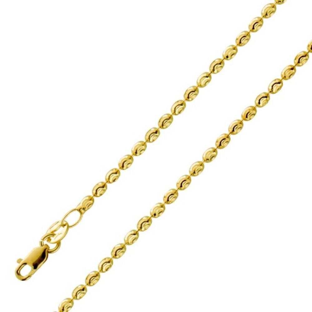 UNOAERRE Ovale Kugelkette Muster Gelbgold 585 1