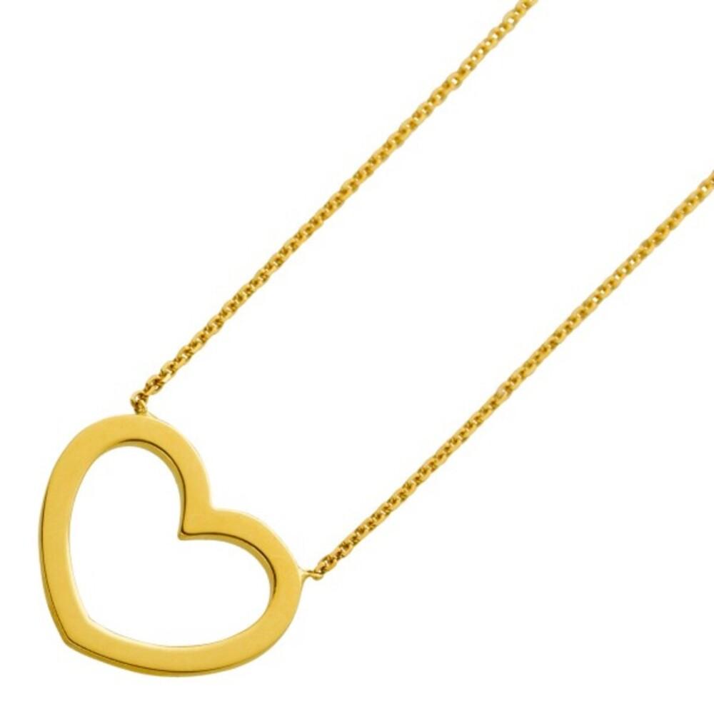 Ankerkette mit Herz Anhänger Gelbgold 375 Länge 42cm