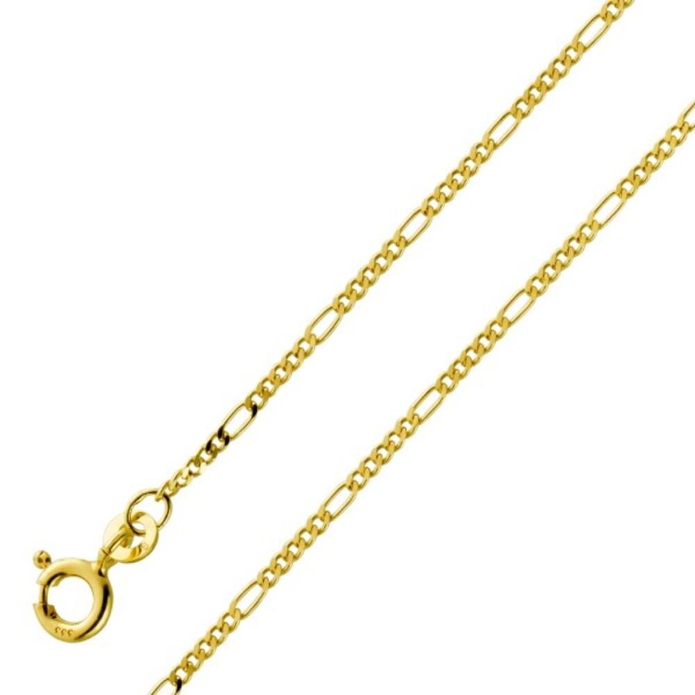 Fusskette Fußkette Gelbgold 333 8 Karat Figaro Muster Beinschmuck Breite 1,6mm 23+2cm
