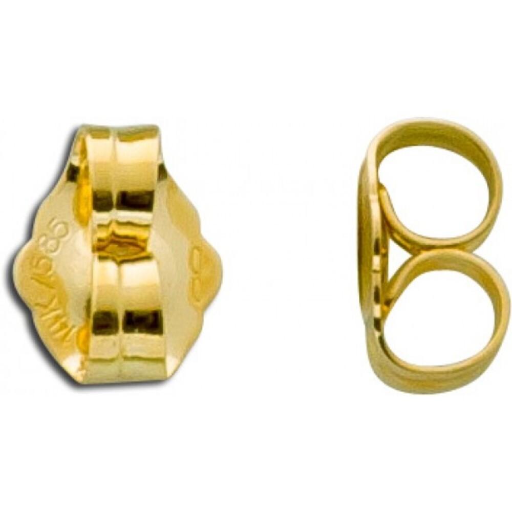 Ohrringe - Ohrmutter Paar Gold 333 hochglanzpoliert
