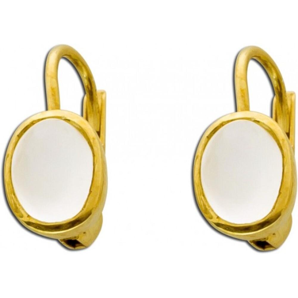 Ohrringe Ohrhänger Gold 333 Mondstein Edelsteinschmuck_01
