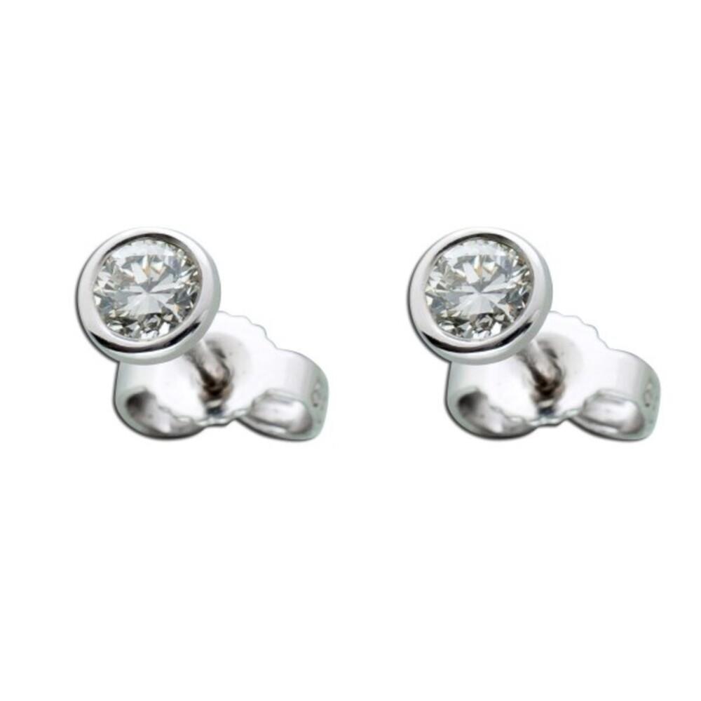 Brillant Diamant Ohrringe Solitär Ohrstecker Weißgold 58514 Karat 0,35 Carat TW / LP Lupenrein_01