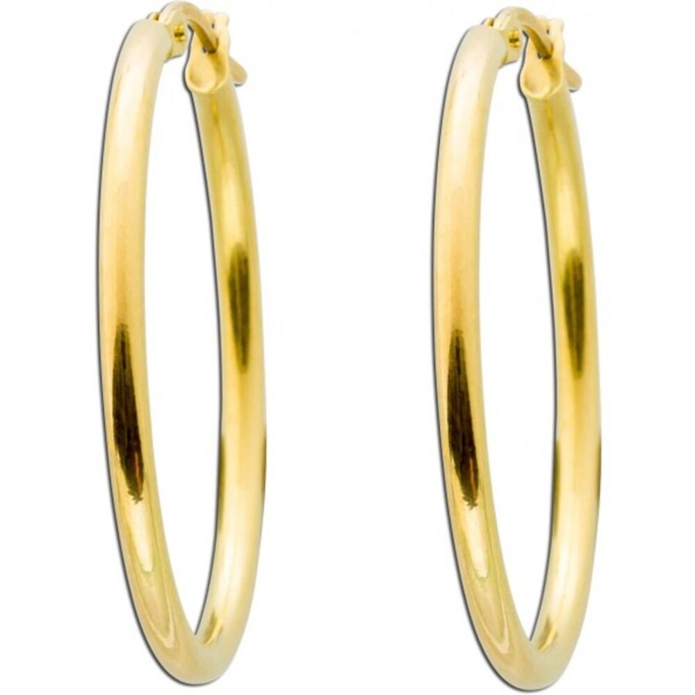 UNO A ERRE Goldohrringe - Creolen Gold 375 poliert Goldschmuck
