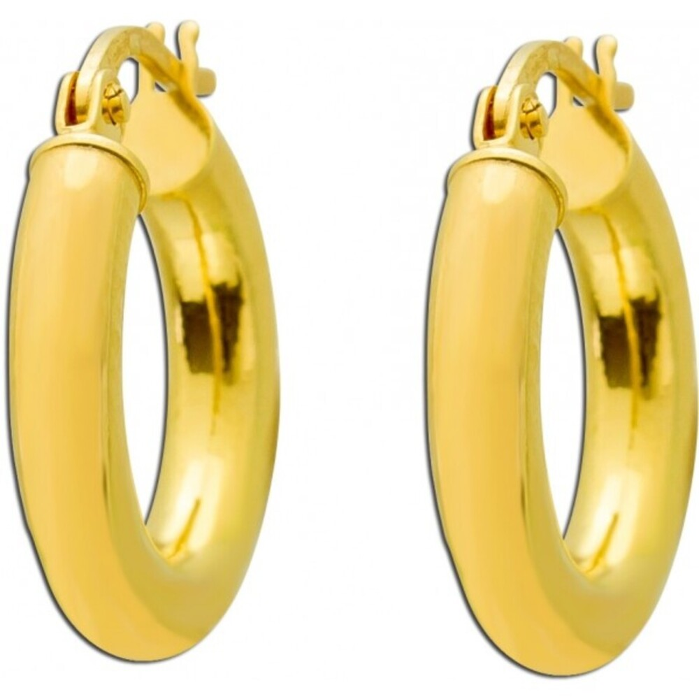 UNO A ERRE Creolen Gelb Gold 375 Scharnierverschluss