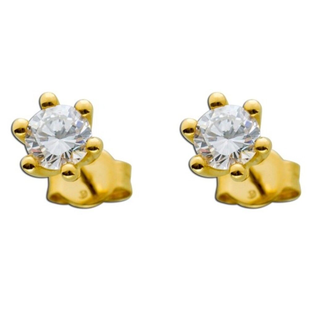 Diamant Ohrringe Gold 585 Brillant Ohrstecker 1,00ct Solitärohrringe 14kt Ohrschmuck Krappenfassung Goldschmuck_02