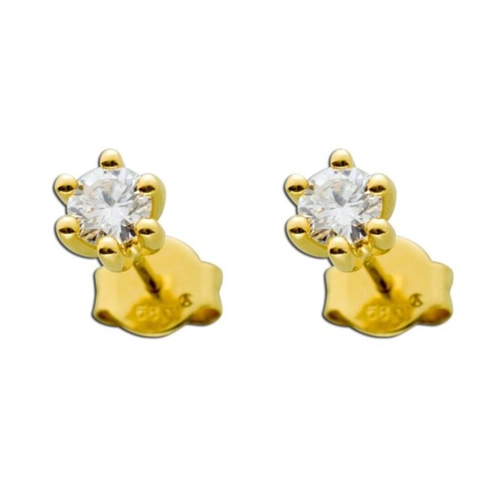 Brillant Ohrringe Gold 585 Diamant Ohrstecker Solitärohrringe 14kt 0,50ct Ohrschmuck Goldschmuck Krappenfassung_02