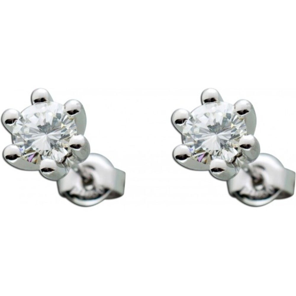 Ohrringe - Ohrstecker Platin 950 Brillanten 1,00ct W/SI