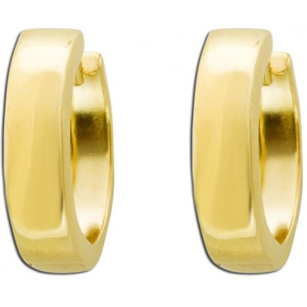 Klappcreolen Gelb Gold 8 Karat