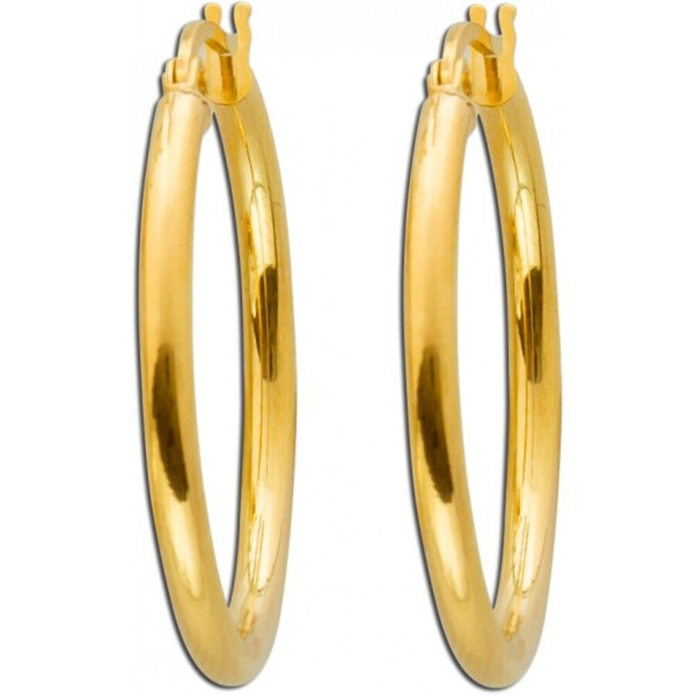 Creolen Gelb Gold 375 Scharnierverschluss