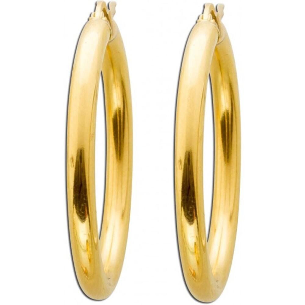 UNO A ERRE Gold Ohrringe Creolen Gold 750 Ohrschmuck Scharnier Creolen