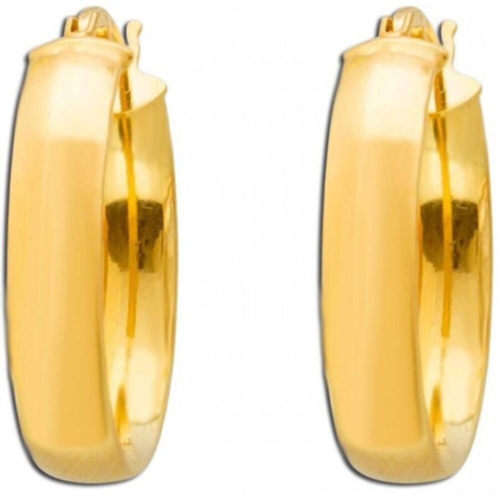 UNO A ERRE  Creolen Gelb Gold 9 Karat Scharnierverschluss