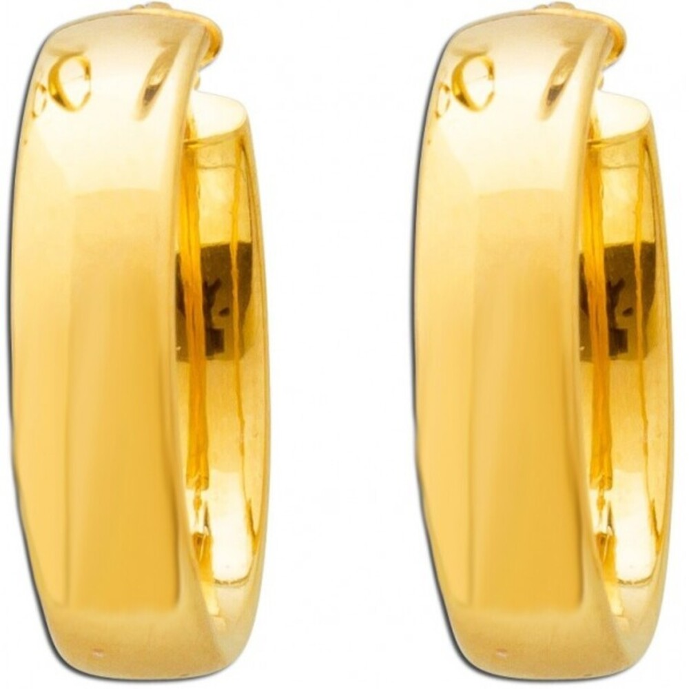 UNO A ERRE Creolen Gelb Gold 9 Karat