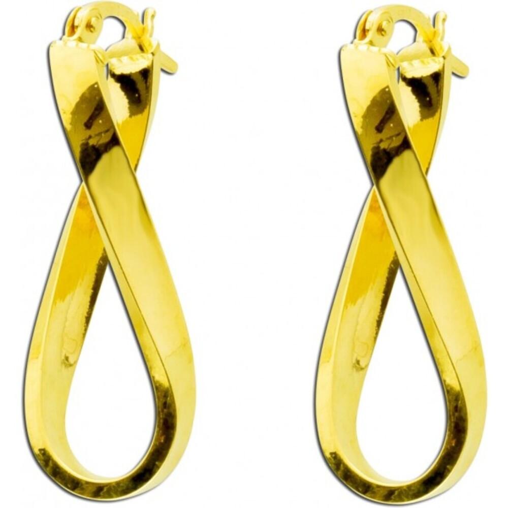 Ohrringe Creolen Gold 375 Ohrschmuck Scharniercreolen UNO A ERRE_01
