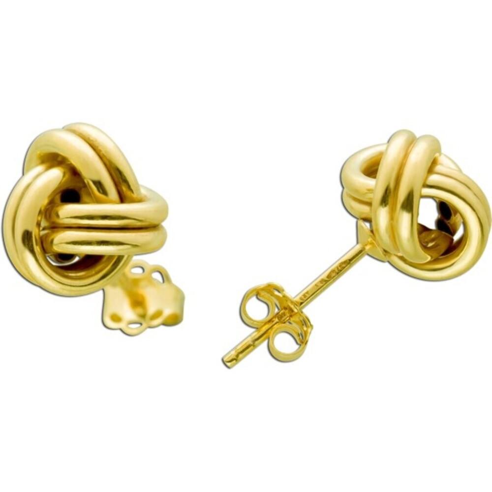 UNO A ERRE Goldohrstecker Knoten förmig Gelbgold 375 Damen Ohrringe  1