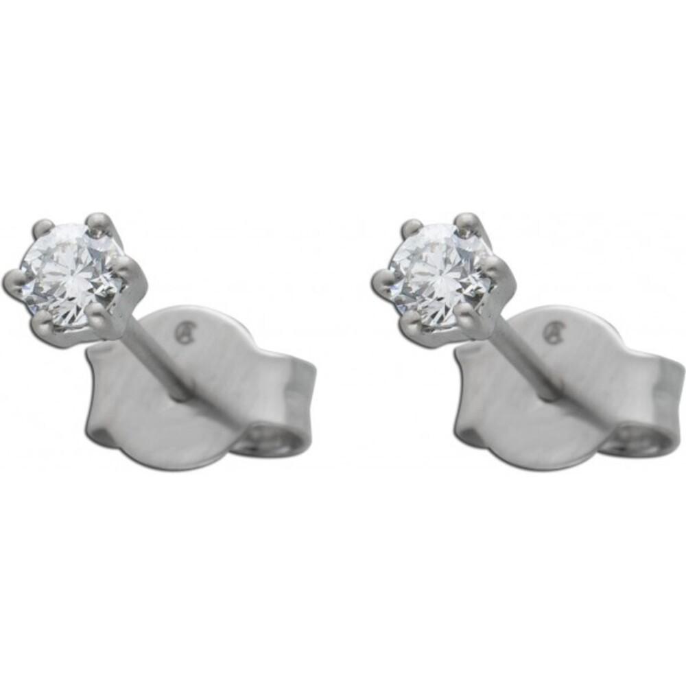 Diamant Ohrringe Brillant Ohrstecker Platin 950 Solitaerstecker 0,15 Carat TW / LP Lupenrein