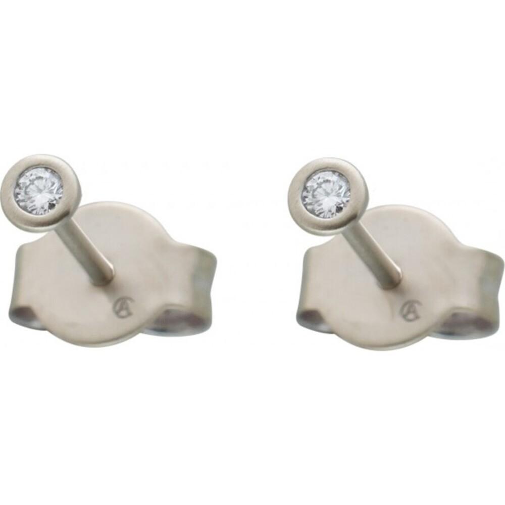 Diamant Ohrringe Brillant Ohrstecker Platin 950 Solitaerstecker 0,15 Carat TW / LP Lupenrein Zargenfassung