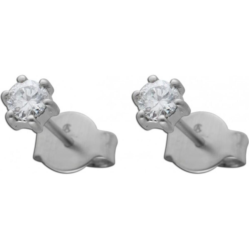 Diamant Ohrringe Brillant Ohrstecker Platin 950 Solitaerstecker 0,35 Carat W / SI Krappenfassung
