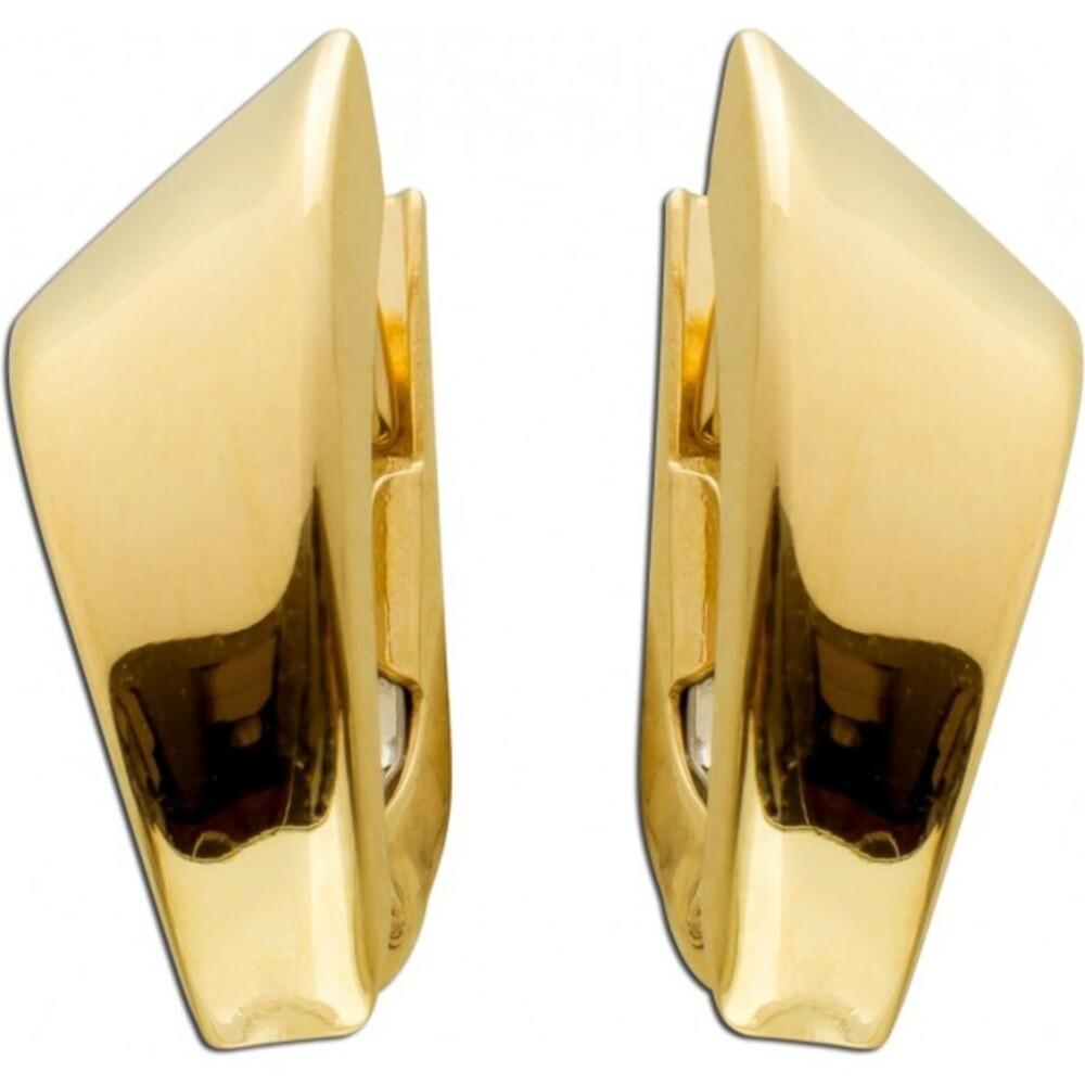Ohrringe Brisur Creolen Gelbgold 333  15x7mm