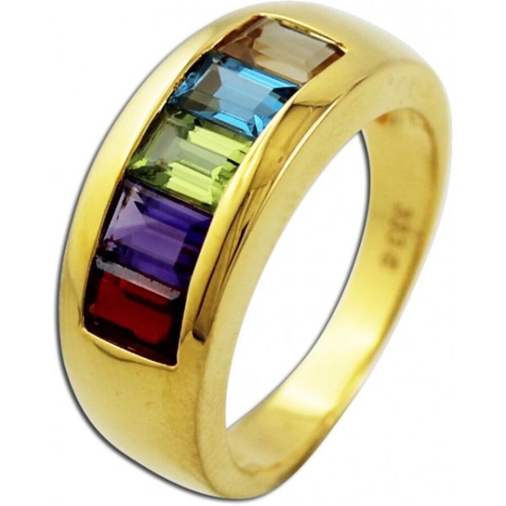 Ring Gelbgold 333 Amethyst Blautopas Citrin Peridot Granat_070648_01