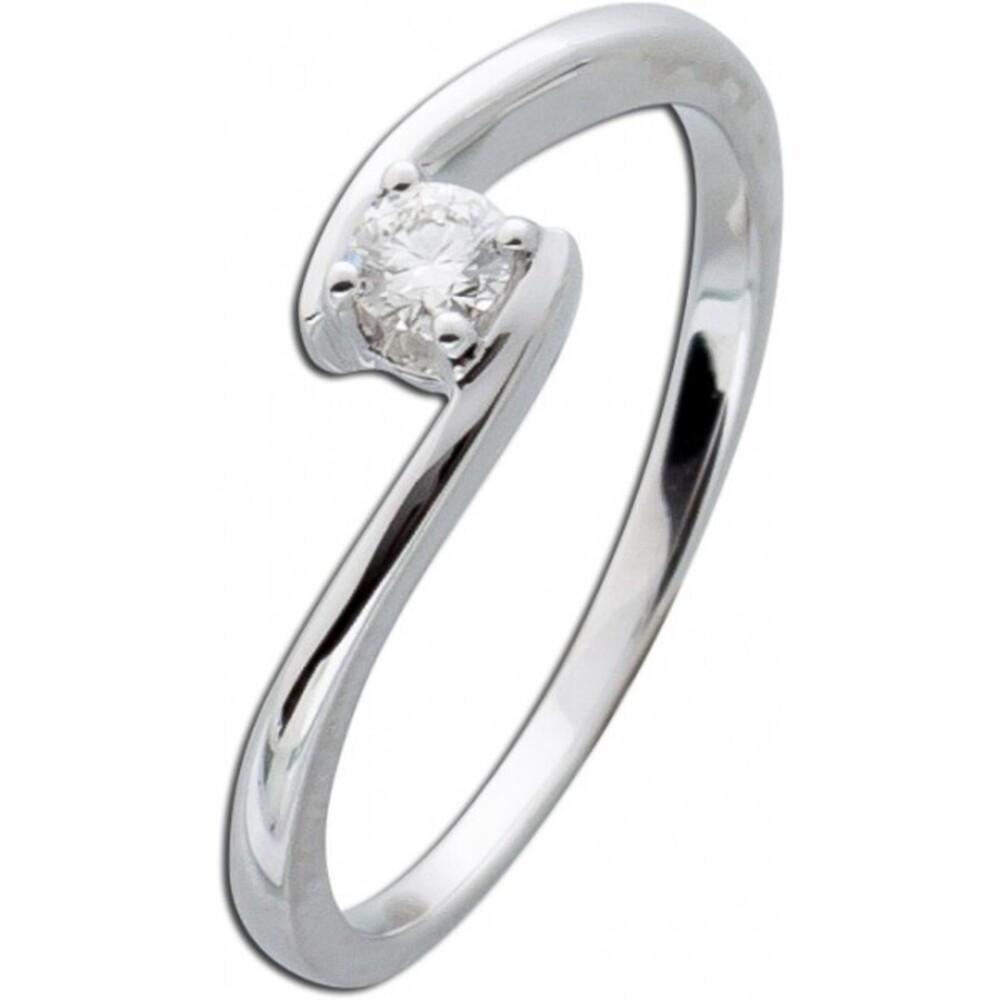 Diamantring Weißgold 585 Verlobungsring Diamant Brillant Ring Solitär 14kt Vorsteckring 0,20ct W/SI Verschnittfassung_02