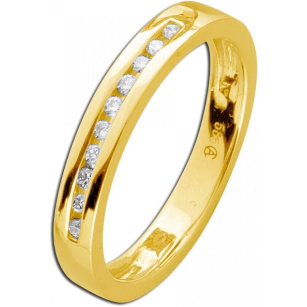 Memory Ring Gelb Gold 585 Brillant Diamant  0,10ct WSI_01