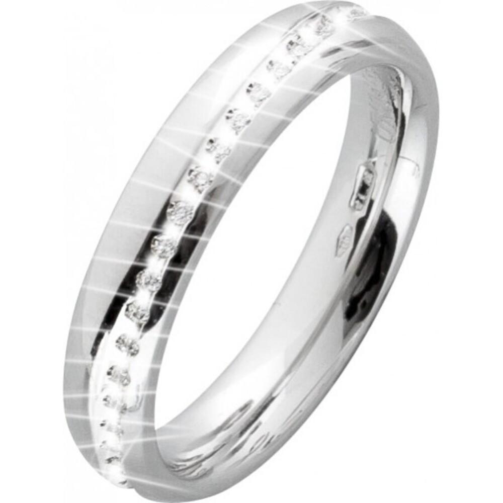 UNO A ERRE Vorsteckring Weißgold 750 Diamant-Brillant 0,15ct G-F/SI-VS Memoire Ring_1