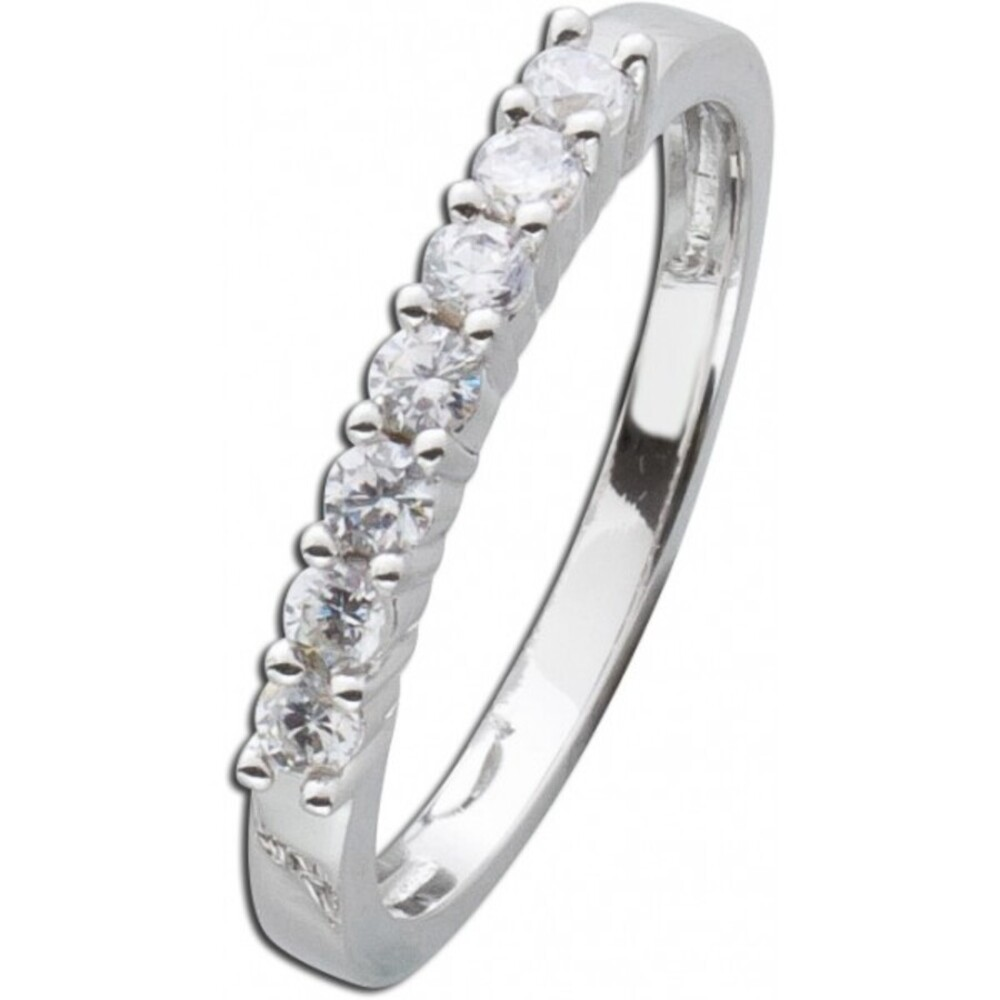 Diamant Vorsteckring Weissgold 585  Brillant 0,42ct W/SI2 Memoire Ring _1