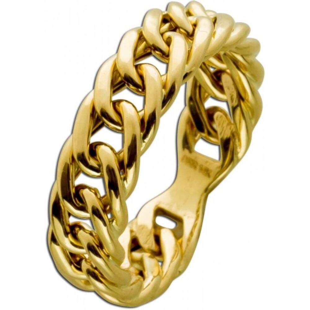 Ketten Ring Gelbgold 333 poliert Damenschmuck