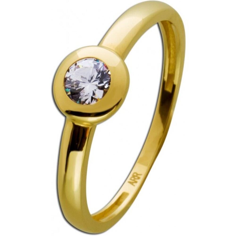 Gold Ring weißen Zirkonia Gelbgold 333 Damenschmuck 1